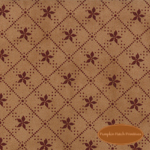 Seasonal Little Gatherings Burgundy Starflower on Tan