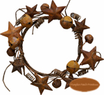 Jingle & Star Small Wreath