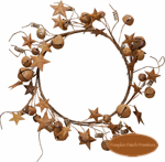 Jingle & Star Medium Wreath