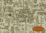 Quilting Words on Green