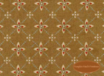 Winterberry Lane, Red Medallions on Brown, Clearance!