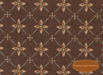 Winterberry Lane, Red Medallions on Dark Brown, Clearance!