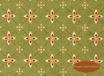 Winterberry Lane, Red Medallions on Green, Clearance!
