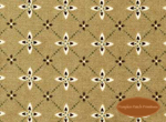 Winterberry Lane, Brown Medallions on Tan, Clearance!