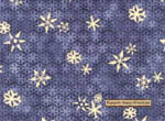 Too Many Men Gold Snowflakes on Dark Blue