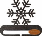 "Snowflake Hanger, 8"", Charcoal"