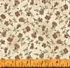 New Town Farm, Rose Vintage Floral on Ivory, Clearance!