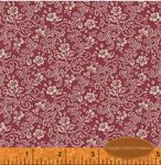 Scarborough Fair Floral Linework on Dark Pink