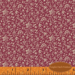 Scarborough Fair Tiny Floral on Dark Pink