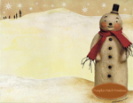 Cozy Scarf Snowman Notepad