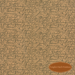 Patchwork Garden Bee Hive Tan Scripts