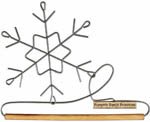 Snowflake Hanger with Wooden Dowel, 6""