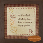 A Fallen Leaf Framed Stitchery