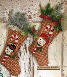 Snow Couple Stockings