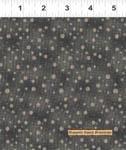 European Taupe X Dark Gray Dots