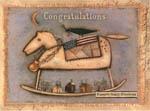Primitive Rocking Horse Congratulations Card