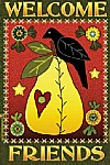 Pear & Crow Garden Flag