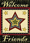 Folk Art Star Garden Flag