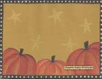 Pumpkin Star Notepad