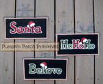 Holiday Trio Mini Banners