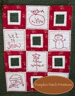 Simply Put Mini - Snowman Quilt