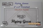 """Bloc_Loc Flying Geese - 2"""" x 4"""" Finished"""