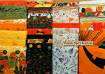 Pumpkins Gone Wild Fat Quarter Bundle, Clearance!