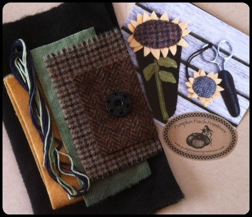 Sunflower Scissor Case and Fob Kit