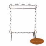 "Scalloped Single Stand Silver 6""x6"""