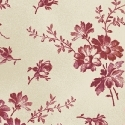 Dk.Pink Daisies on Ivory