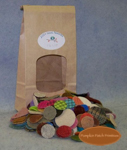 "1-1/2"" - 1"" Blended Colors Woolen Pennies"